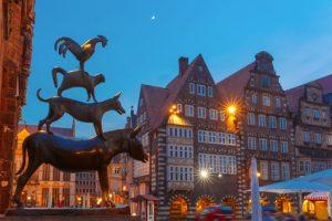 Die Stadtmusikanten sind nur ein Wahrzeichen von Bremen.